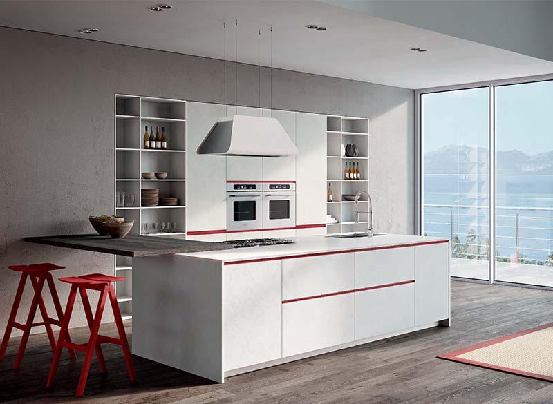 Cucina Vitteritti Berloni con isola forno lavello e parete
