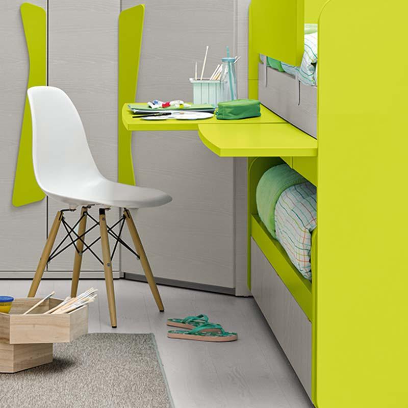 cameretta-con-letto-a-castello-e-scrittoio-verde