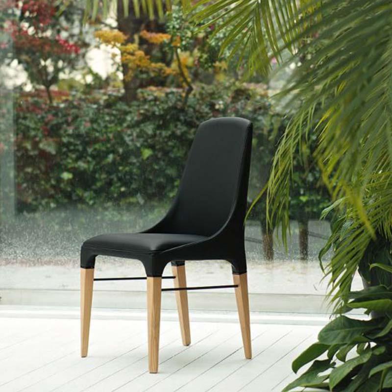 sedia-legno-massello-pelle-ecologica-nera-waterproof