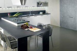 cucina con penisola del tongo
